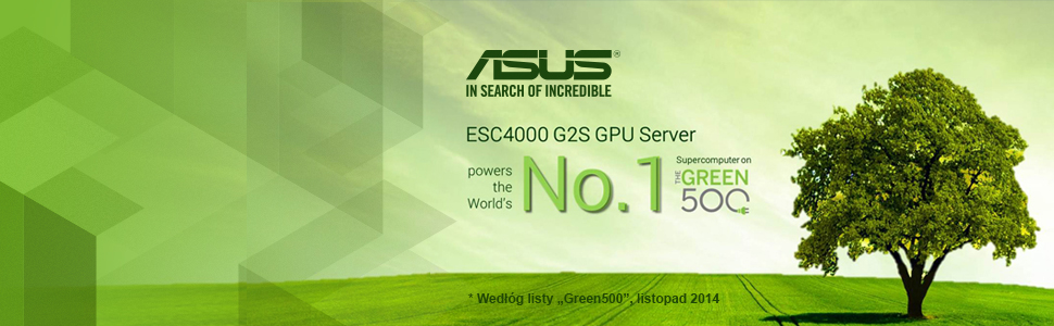 ASUS 4000 G2S GPU Server - Nr 1 w Green500